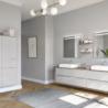 Une salle de bain tendance, épurée et fonctionnelle