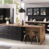 Créez votre cuisine moderne noire chez Les Cuisines Campillo